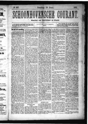 Schoonhovensche Courant 1881-06-19