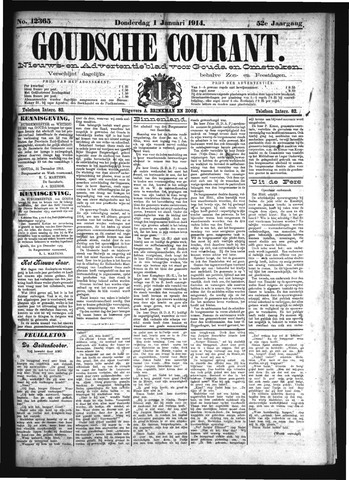 Goudsche Courant 1914-01-01