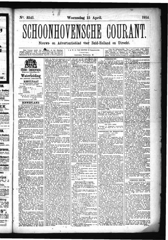 Schoonhovensche Courant 1914-04-15