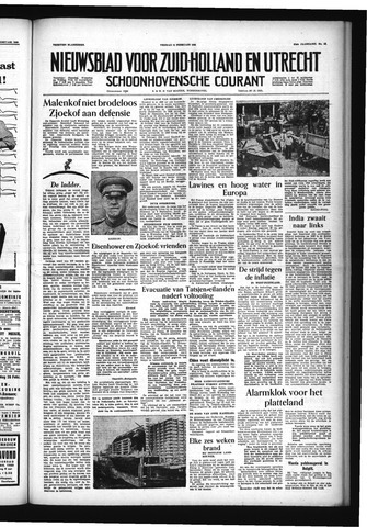 Schoonhovensche Courant 1955-02-11