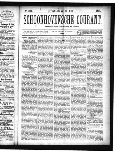 Schoonhovensche Courant 1890-05-31