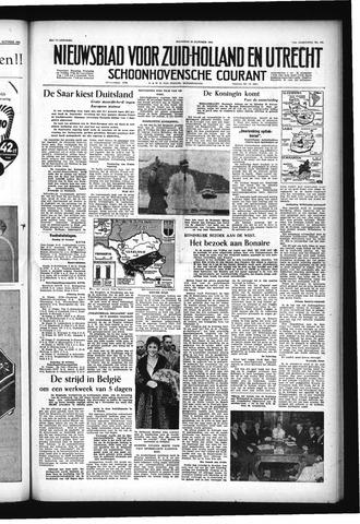 Schoonhovensche Courant 1955-10-24