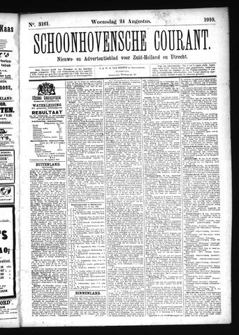 Schoonhovensche Courant 1910-08-24