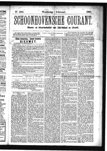 Schoonhovensche Courant 1899-02-01
