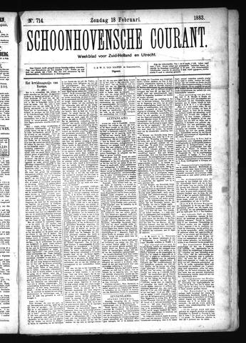 Schoonhovensche Courant 1883-02-18