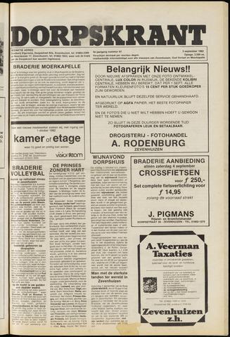 Dorpskrant 1982-09-03