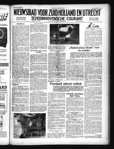 Schoonhovensche Courant 1950-11-29