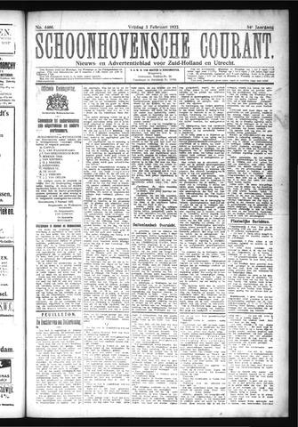 Schoonhovensche Courant 1922-02-03