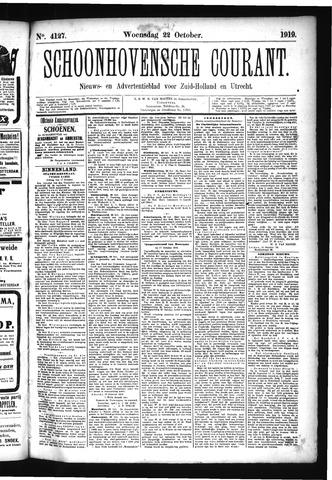 Schoonhovensche Courant 1919-10-22