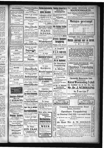Schoonhovensche Courant 1929-07-04