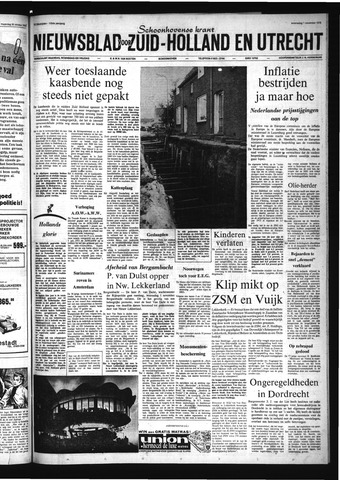Schoonhovensche Courant 1972-11-01
