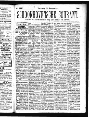 Schoonhovensche Courant 1906-12-15