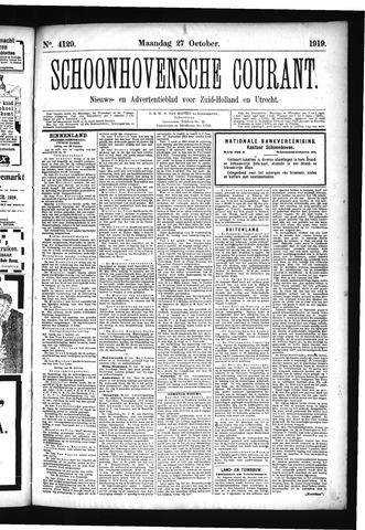 Schoonhovensche Courant 1919-10-27