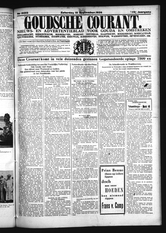 Goudsche Courant 1936-09-12