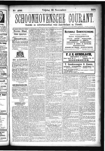 Schoonhovensche Courant 1918-11-22