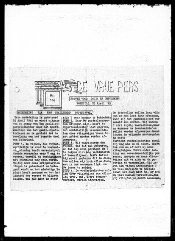 De Vrije Pers 1945-04-25