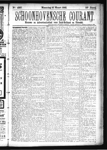 Schoonhovensche Courant 1921-03-21