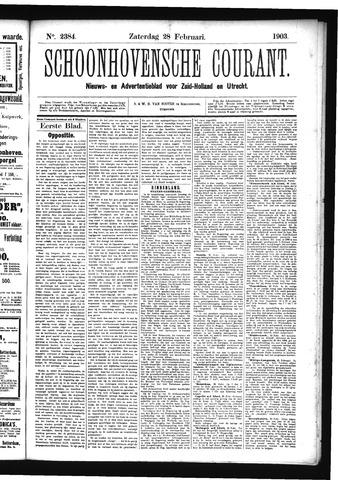 Schoonhovensche Courant 1903-02-28