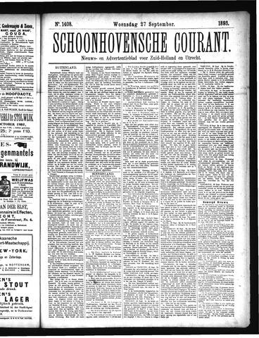 Schoonhovensche Courant 1893-09-27