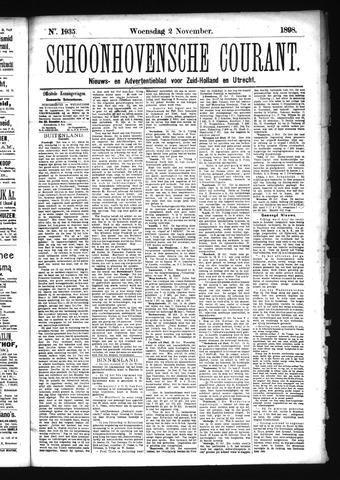 Schoonhovensche Courant 1898-11-02