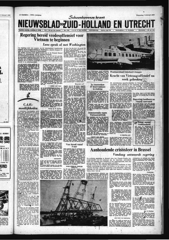 Schoonhovensche Courant 1968-02-07