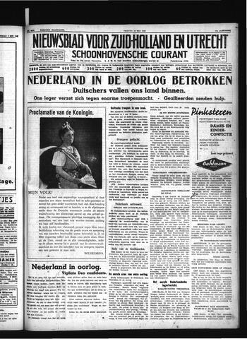 Schoonhovensche Courant 1940-05-10