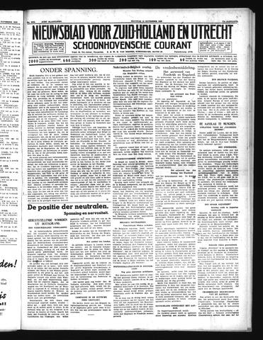 Schoonhovensche Courant 1939-11-13