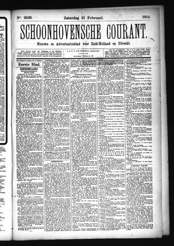 Schoonhovensche Courant 1914-02-21