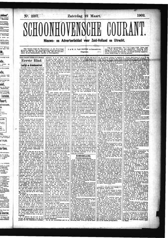 Schoonhovensche Courant 1902-03-22