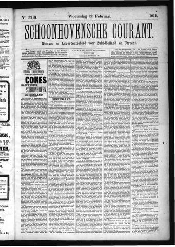 Schoonhovensche Courant 1911-02-22