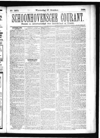 Schoonhovensche Courant 1909-10-27