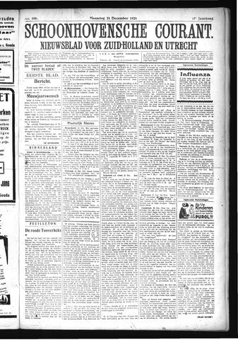 Schoonhovensche Courant 1925-12-21