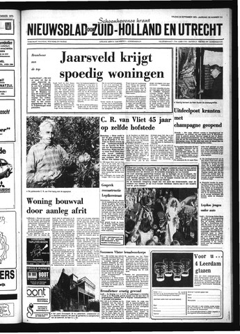 Schoonhovensche Courant 1975-09-26