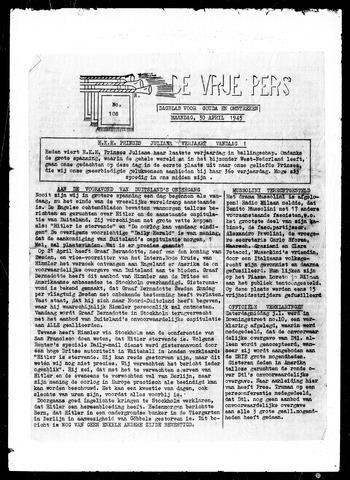 De Vrije Pers 1945-04-30