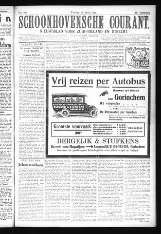 Schoonhovensche Courant 1924-04-11
