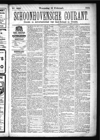 Schoonhovensche Courant 1913-02-12