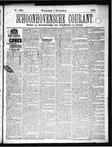 Schoonhovensche Courant 1910-12-07