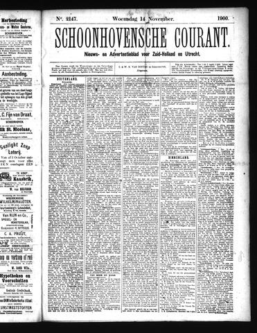 Schoonhovensche Courant 1900-11-14