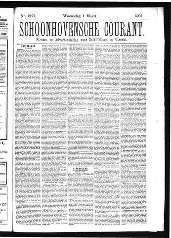 Schoonhovensche Courant 1905-03-01