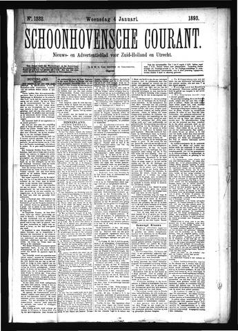 Schoonhovensche Courant 1893-01-04