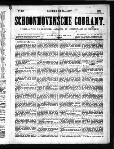 Schoonhovensche Courant 1873-03-23