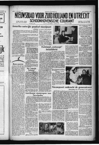 Schoonhovensche Courant 1957-11-20