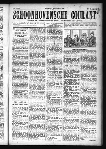 Schoonhovensche Courant 1923-09-07