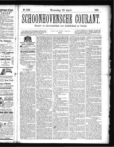 Schoonhovensche Courant 1891-04-22