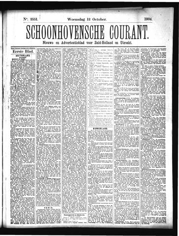 Schoonhovensche Courant 1904-10-12