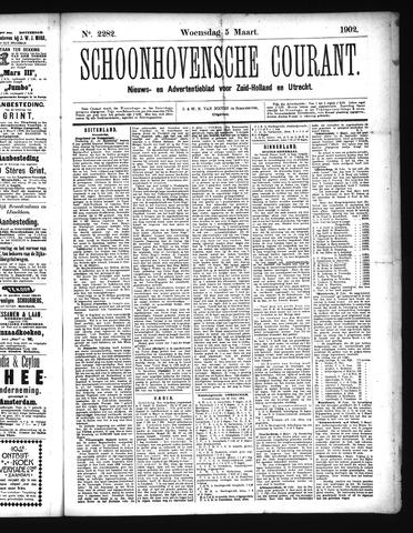 Schoonhovensche Courant 1902-03-05