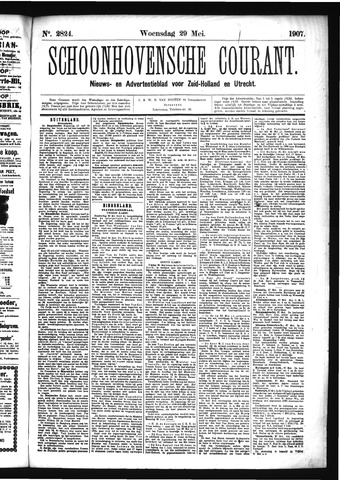 Schoonhovensche Courant 1907-05-29