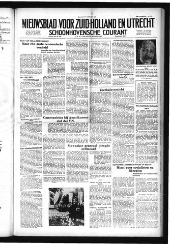 Schoonhovensche Courant 1952-10-13