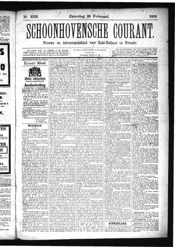 Schoonhovensche Courant 1910-02-26