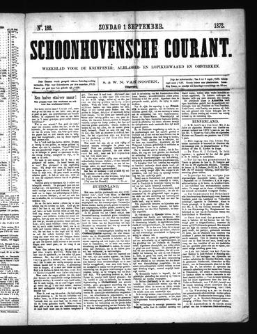 Schoonhovensche Courant 1872-09-01